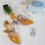 รองเท้าคัทชูส้นสูงสีเหลือง หัวแหลม เว้าข้าง (สีเหลือง ) thumbnail 6