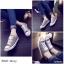 รองเท้าผ้าใบแฟชั่นสีเทา สไตล์คอนเวิร์ส (สีเทา ) thumbnail 2