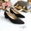 รองเท้าคัทชูส้นสูง หัวแหลม ทรงสุภาพ (สีดำ ) thumbnail 5