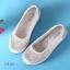 รองเท้าผ้าใบเสริมส้นสีครีม ผ้าลูกไม้ พื้นสุขภาพ (สีครีม ) thumbnail 6