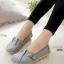 รองเท้าคัทชู สไตล์Loafer หนังนิ้ม สไตล์สุขภาพ (สีเทา )