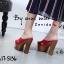 รองเท้าส้นสูงสีแดง สายคาดไขว้ สไตล์เกาหลี (สีแดง ) thumbnail 2