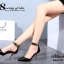 รองเท้าส้นสูง หัวแหลม สายรัดข้อสีทอง (สีดำ ) thumbnail 8