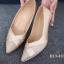 รองเท้าคัทชู หัวแหลม หนังนิ่ม แต่งกากเพชร (สีทอง ) thumbnail 4