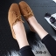 รองเท้าคัทชูส้นเตี้ย แบบผูกเชือก สักหราดนิ่ม ดูดีมีสไตล์ (สีน้ำตาล ) thumbnail 4