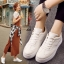 รองเท้าผ้าใบ แบบเชือก ด้านในบุฟองน้ำ งานเริ่ด (สีขาว ) thumbnail 2