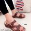 รองเท้าแตะ เพื่อสุขภาพ ปุ่มยางช่วยนวดเท้า ใส่ได้ตลอดวัน (สีน้ำตาล ) thumbnail 1