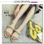 รองเท้าแตะผู้หญิงสีแอปริคอท เปิดส้น สายคาดแบบโซ่ (สีแอปริคอท ) thumbnail 1