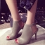 รองเท้าส้นสูง รัดข้อเท้า แบบเปิดหน้า สายรัดเมจิกเทป (สีขาว ) thumbnail 6