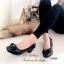 รองเท้าคัทชู ส้นสูง หัวตัด บุนวม (สีดำ ) thumbnail 5