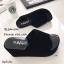 รองเท้าส้นเตารีดเปิดส้นสีดำ หนังกำมะหยี่นิ่ม (สีดำ ) thumbnail 2