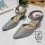 รองเท้าคัทชูรัดข้อสีน้ำตาล หัวแหลม เปิดส้น (สีเทา ) thumbnail 4