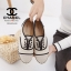 รองเท้าผ้าใบผู้หญิง ผ้าแคนวาส เพิ่มความเก๋ด้วยเชือกปอถัก STYLE CHANEL (สีครีม ) thumbnail 4