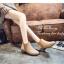 รองเท้าบูทผู้หญิง หนังกลับ (สีน้ำตาล ) thumbnail 3