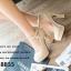 รองเท้าคัทชูส้นสูง หัวกลม หนังแก้ว (สีครีม ) thumbnail 5