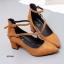 รองเท้าคัทชูส้นสูง รัดข้อ ทรงสุภาพ (สีน้ำตาล ) thumbnail 2