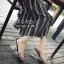 รองเท้าส้นแก้วรัดข้อ ดีไซด์โค้งเว้าสวยงาม (สีเงิน ) thumbnail 1