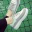 รองเท้าผ้าใบแฟชั่นสีเทา korea style ดีไซน์เก๋ส์ (สีเทา )