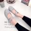 รองเท้าคัทชูรัดข้อ สไตล์แคชชวล ฉลุลาย (สีเทา ) thumbnail 2
