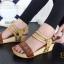 รองเท้าส้นเตารีด รัดส้น สายคาดตอกหมุด สไตล์วินเทจ (สีน้ำตาล ) thumbnail 6
