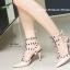 รองเท้าส้นสูงรัดข้อ สไตล์VALENTINO (สีแอปปริคอท ) thumbnail 2
