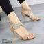 รองเท้าส้นสูง ปิดส้น รัดข้อเท้า สายคาดเพชร (สีแอปปริคอท ) thumbnail 3