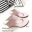 รองเท้าส้นเตารีดสีชมพู แบบคีบ สไตล์ลำลอง (สีชมพู ) thumbnail 2