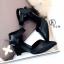 รองเท้าส้นเตารีด แบบรัดส้น หัวแหลม (สีดำ ) thumbnail 3