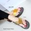 รองเท้าแตะเพื่อสุขภาพ หูหนีบ เปิดส้น แต่งคริสตัล (สีน้ำน้ำตาล ) thumbnail 2