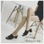 รองเท้าส้นสูง แบบสวม ปลายเปิดสไตล์ลำลอง (สีดำ ) thumbnail 4