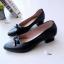 รองเท้าคัทชู หัวมน แนวหวาน (สีดำ ) thumbnail 2