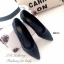 รองเท้าคัทชูส้นแบน หัวแหลม หนังพียูนิ่ม ลายBaoBao (สีดำ ) thumbnail 2