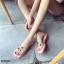 รองเท้าแตะแฟชั่นสีชมพู สายคาดพลาสติกใส ไม่บาดเท้า (สีชมพู ) thumbnail 3
