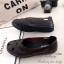 รองเท้าคัทชู แนววินเทจ หน้าไขว้ (สีน้ำตาล ) thumbnail 3