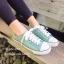 รองเท้าผ้าใบแฟชั่นสีเขียว ผ้าแคนวาส รุ่นคลาสสิค (สีเขียว ) thumbnail 3
