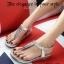 รองเท้าลำลองรัดส้น แบบคีบ (สีเงิน ) thumbnail 7