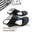 รองเท้าส้นเตารีดสีดำ แบบคีบ สไตล์ลำลอง (สีดำ ) thumbnail 3