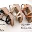 รองเท้าส้นเตารีดรัดส้นสีครีม ดีไซน์สวมคาดหน้า สายรัดข้อตะขอเกี่ยว (สีครีม ) thumbnail 4