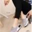 รองเท้าผ้าใบเสริมส้นสีเทา ผ้าแคนวาส พื้นสุขภาพ (สีเทา ) thumbnail 2