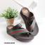 รองเท้าแตะเพื่อสุขภาพ สไตล์ลำลอง หูหนีบ เสริมพื้น (สีน้ำตาล ) thumbnail 3