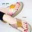 รองเท้าแตะเพื่อสุขภาพ หูหนีบ เปิดส้น แต่งคริสตัล (สีครีม ) thumbnail 1