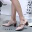 รองเท้าคัทชูส้นตันสีชมพู หัวแหลม สไตล์ ZARA (สีชมพู ) thumbnail 1