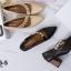 รองเท้าคัทชูส้นตันสีดำ หัวแหลม สไตล์ ZARA (สีดำ ) thumbnail 5