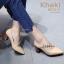 รองเท้าคัทชูส้นตันสีครีม หัวแหลม สไตล์ ZARA (สีครีม ) thumbnail 3