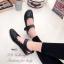 รองเท้าคัทชูรัดข้อ สไตล์แคชชวล ฉลุลาย (สีดำ ) thumbnail 4