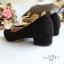 รองเท้าคัทชูส้นสูง หัวแหลม ทรงสุภาพ (สีดำ ) thumbnail 3