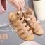 รองเท้าส้นเตารีด รัดส้น สายคาด3ตอน (สีน้ำตาล ) thumbnail 4