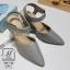 รองเท้าคัทชูรัดข้อสีน้ำตาล หัวแหลม เปิดส้น (สีเทา ) thumbnail 1