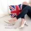 รองเท้าคัทชู ส้นสูง หัวแหลม เย็บหนังซ้อน (สีทอง ) thumbnail 5