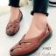รองเท้าคัทชู แนววินเทจ หน้าไขว้ (สีแทน ) thumbnail 1